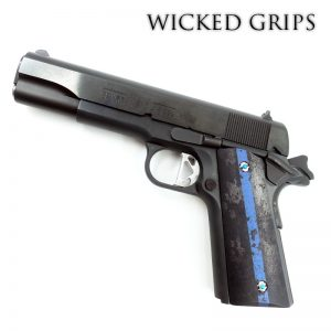 CUSTOM 1911 GRIPS THIN BLUE LINE