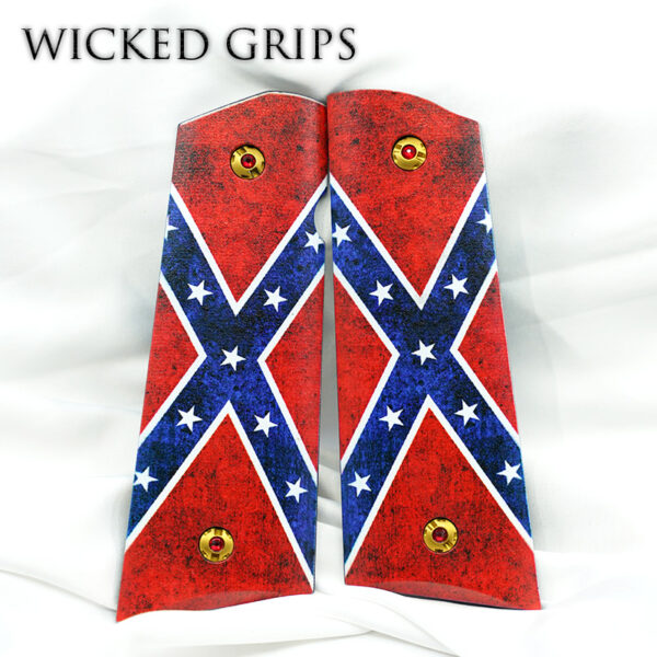 CUSTOM 3D 1911 PISTOL GRIPS DIXIE FLAG