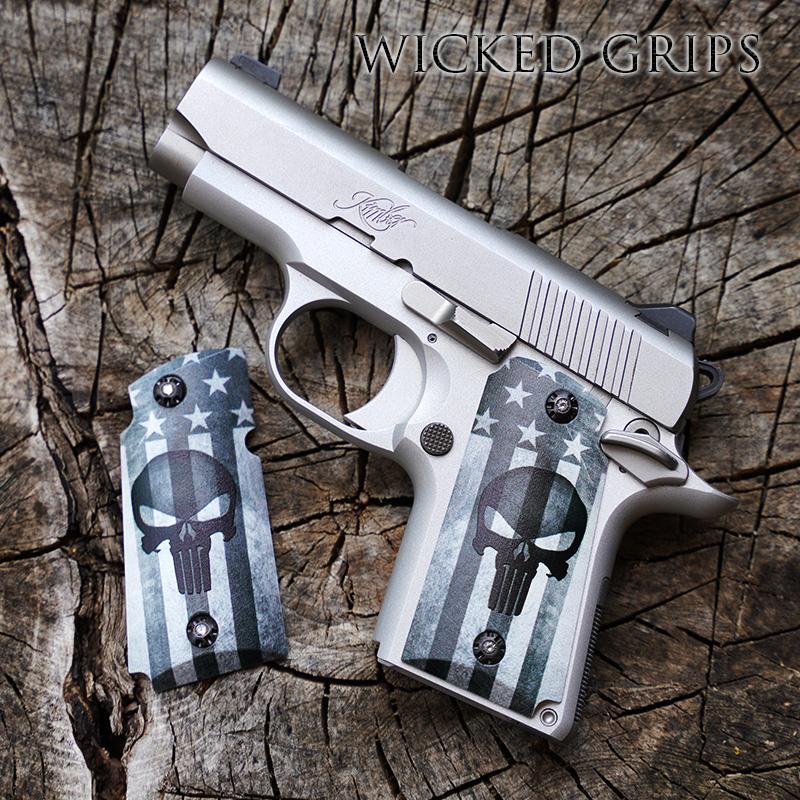 KIMBER MICRO 9MM CUSTOM PISTOL GRIPS AMERICAN PUNISHER