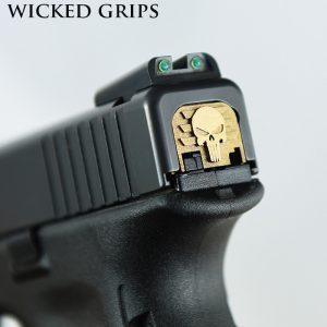 GLOCK-REAR-SLIDE-PLATE-bronze-punisher-1-WICKED-GRIPS