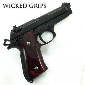 BERETTA 92FS PISTOL GRIPS RED JASPER REVEAL SERIES