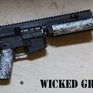 "AR-15 ALUMINUM ""GEMSTONE SERIES"" BLACK DIAMOND GRIP"