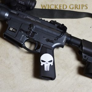 CUSTOM AR-15 M4 GRIP CERAKOTE CLASSIC PUNISHER