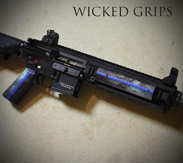 CUSTOM AR-15 PISTOL GRIP THIN BLUE LINE