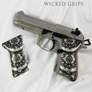 BERETTA 92 COMPACT GRIPS BLACK LACE