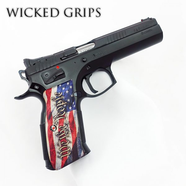 CZ-75 CUSTOM PISTOL GRIPS WE THE PEOPLE V4