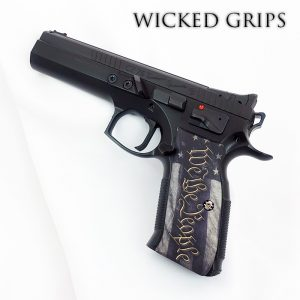 CZ-75 CUSTOM PISTOL GRIPS WE THE PEOPLE V5