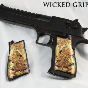 CUSTOM DESERT EAGLE GRIPS SAMURAI VS DEMON