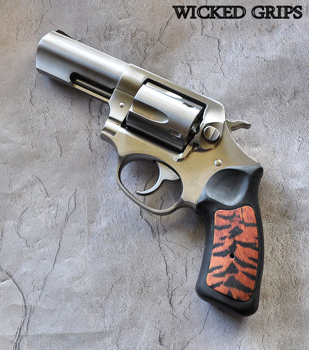 "CUSTOM RUGER SP101 GRIPS ""TIGER FUR"""