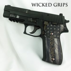 CUSTOM SIG SAUER P226 PISTOL GRIPS WE THE PEOPLE VER 5