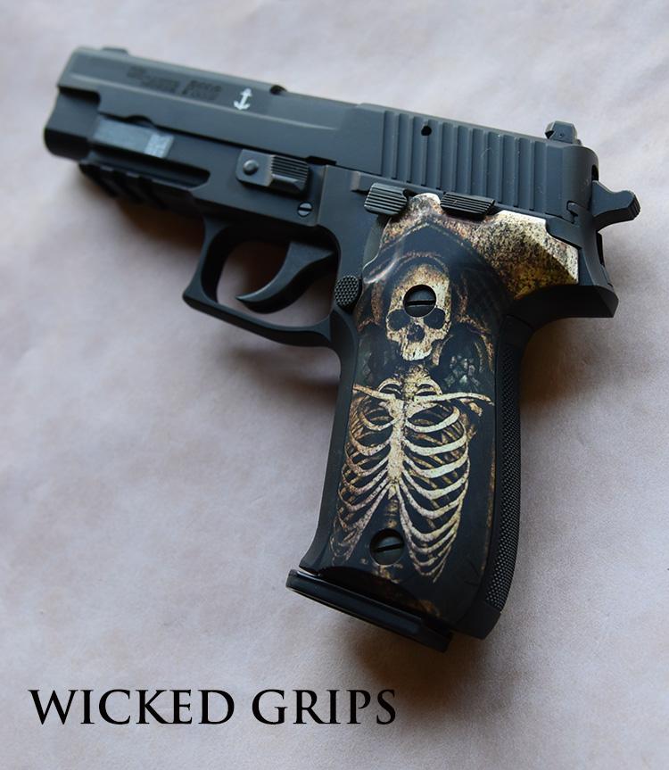 CUSTOM SIG SAUER P226 GRIPS SKELETON