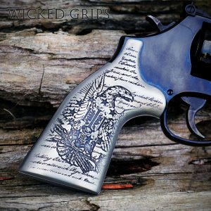 S&W K L AND X FRAME REVOLVER GRIPS ENGRAVED 3% EAGLE