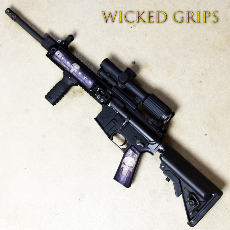 CUSTOM AR-15 PISTOL GRIP FULL METAL PUNISHER