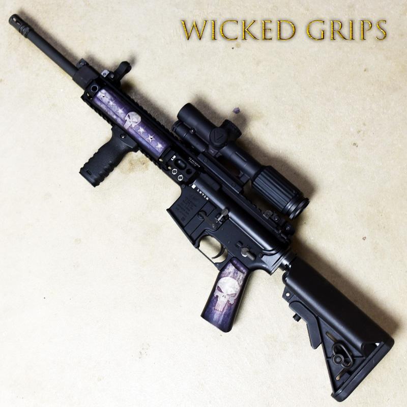 CUSTOM AR-15 PISTOL GRIP FULL METAL PUNISHER