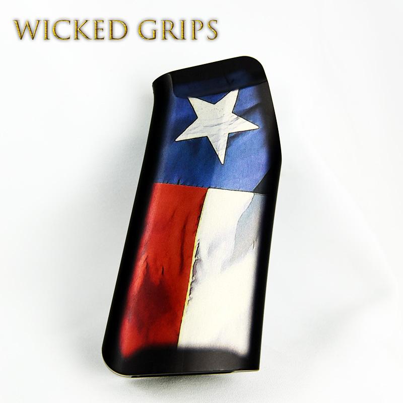 Custom Ar 15 Pistol Grip Texas Flag V2