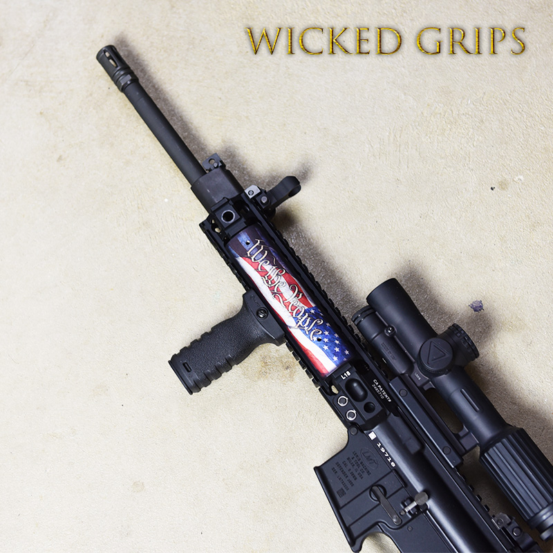 AR15 PICATINNY QUAD RAIL COVER WE THE PEOPLE V4