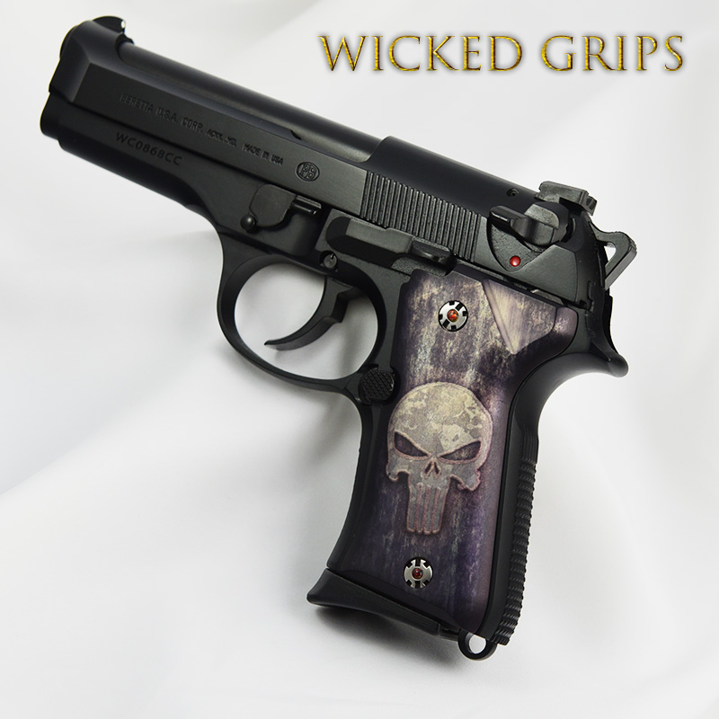 BERETTA 92 COMPACT PISTOL GRIPS FULL METAL PUNISHER