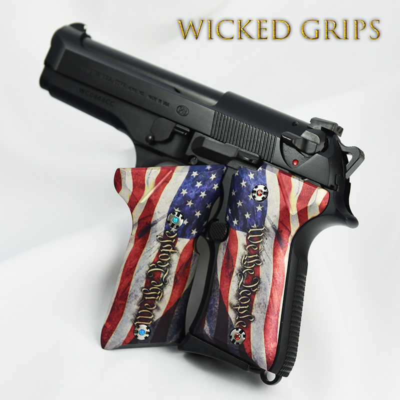 BERETTA 92 COMPACT GRIPS WE THE PEOPLE ver 4