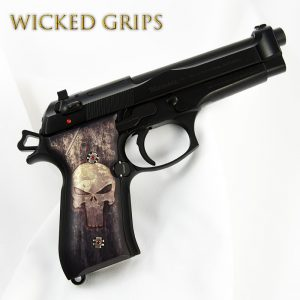CUSTOM BERETTA 92FS PISTOL GRIPS FULL METAL PUNISHER