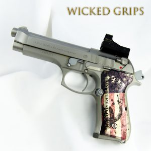 "BERETTA 92FS CUSTOM GRIPS ""DONT TREAD AMERICAN FLAG"""