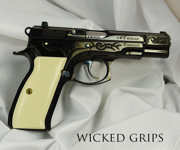 CZ75 PISTOL GRIPS SYNTHETIC IVORY - Wicked Grips | Custom Handgun Pistol  Grips