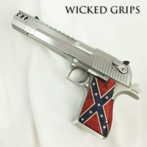 CUSTOM DESERT EAGLE PISTOL GRIPS DIXIE FLAG