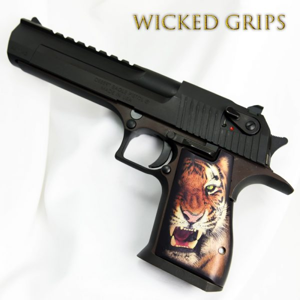 CUSTOM DESERT EAGLE GRIPS TIGER