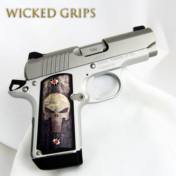 KIMBER MICRO 9MM CUSTOM PISTOL GRIPS FULL METAL PUNISHER