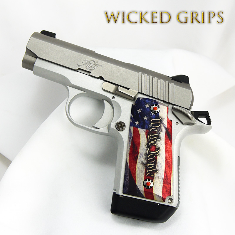 KIMBER MICRO 9MM CUSTOM PISTOL GRIPS WE THE PEOPLE VERSION 4