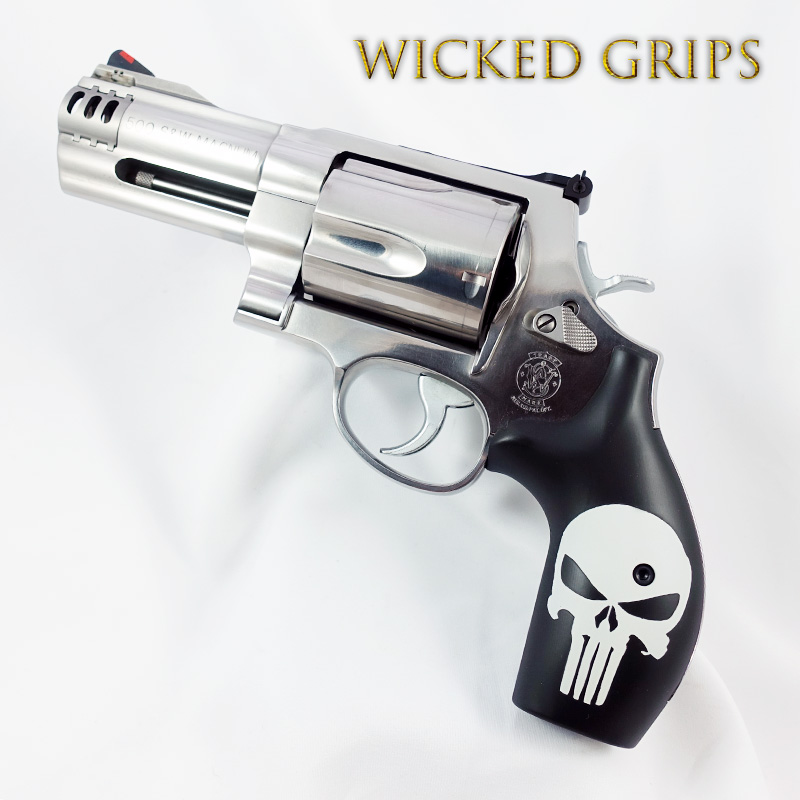 S&W K L AND X FRAME REVOLVER GRIPS CLASSIC PUNISHER CERAKOTE