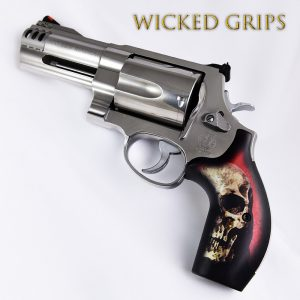 SMITH & WESSON K L AND X FRAME REVOLVER GRIPS RED SKULL V2