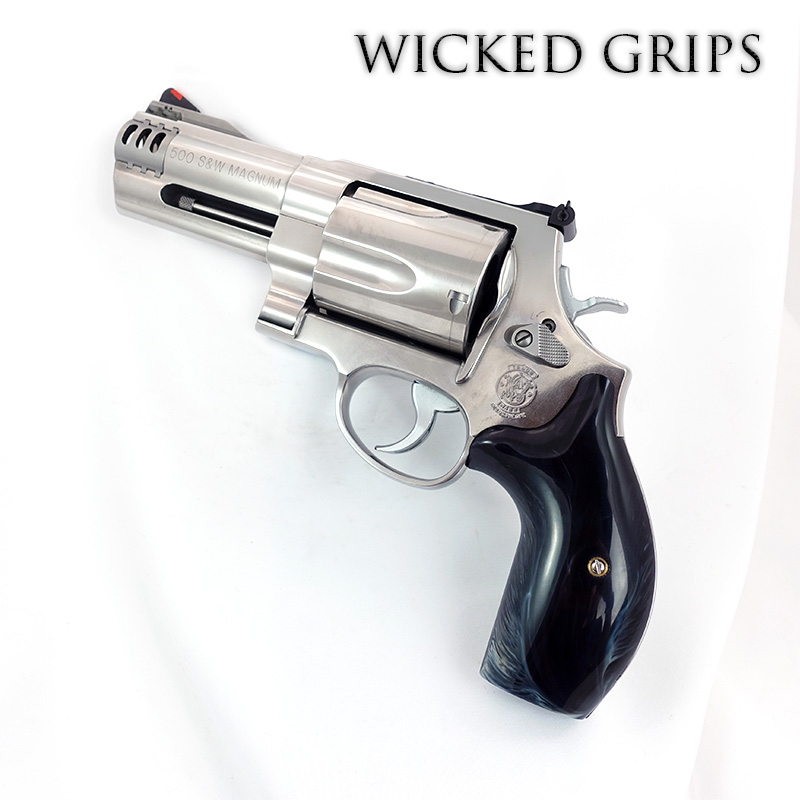 S&W K L X FRAME REVOLVER GRIPS REPLICATED BUFFALO HORN