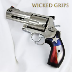 SMITH & WESSON K L AND X FRAME REVOLVER GRIPS TEXAS FLAG