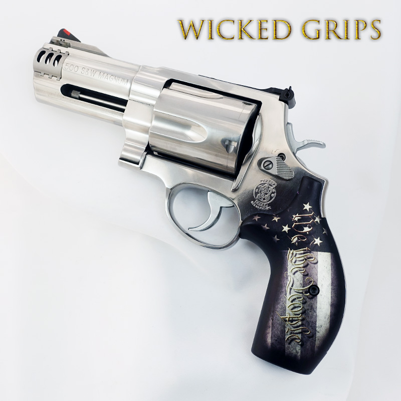SMITH & WESSON K L AND X FRAME REVOLVER GRIPS WE THE PEOPLE V5