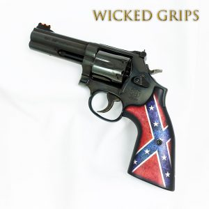 S&W K L AND X FRAME REVOLVER GRIPS DIXIE FLAG