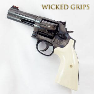 S&W K L AND X FRAME REVOLVER GRIPS REPLICATED IVORY