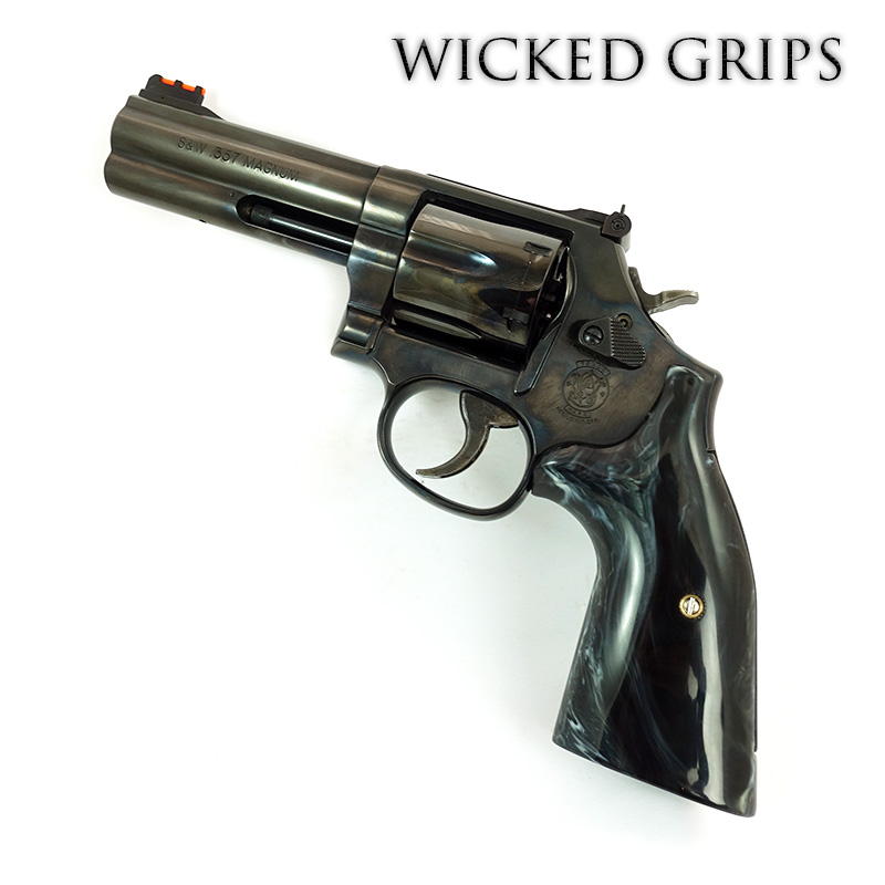 S&W K L AND X FRAME REVOLVER GRIPS REPLICATED BUFFALO HORN