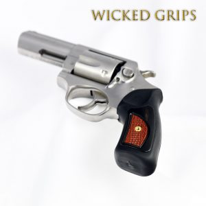 CUSTOM RUGER SP101 REVOLVER GRIPS COCOBOLO IN EBONY