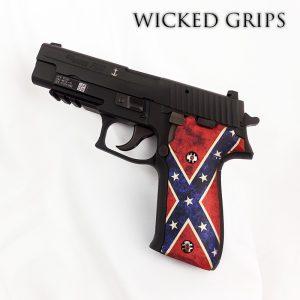 CUSTOM SIG SAUER P226 PISTOL GRIPS DIXIE FLAG