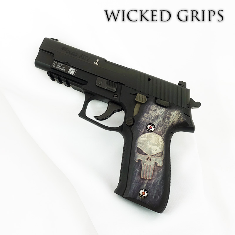 CUSTOM SIG SAUER P226 PISTOL GRIPS FULL METAL PUNISHER