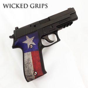 CUSTOM SIG SAUER P226 GRIPS TEXAS FLAG