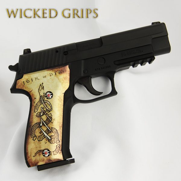 CUSTOM SIG SAUER P226 GRIPS 1776 JOIN OR DIE