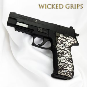 "CUSTOM SIG SAUER P226 GRIPS ""BLACK LACE 2"""