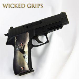 CUSTOM SIG SAUER P226 GRIPS DEER SKULL