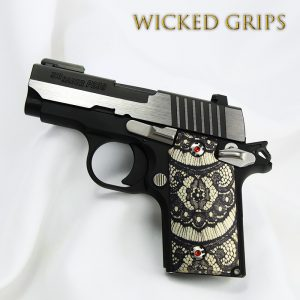 "SIG SAUER P238 CUSTOM GRIPS ""BLACK LACE"""