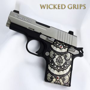 CUSTOM SIG SAUER P938 GRIPS! BLACK LACE