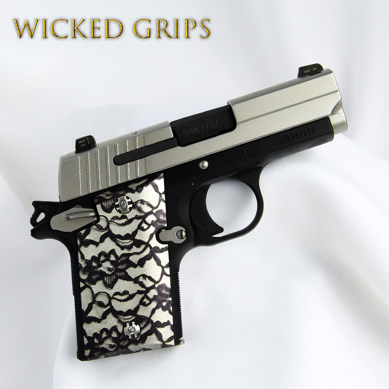 CUSTOM SIG SAUER P938 GRIPS! BLACK LACE VERSION 2