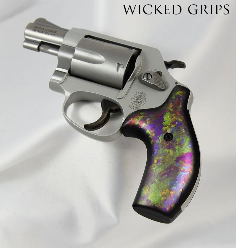 Custom Smith Amp Wesson J Frame Pistol Grips Opal Wicked