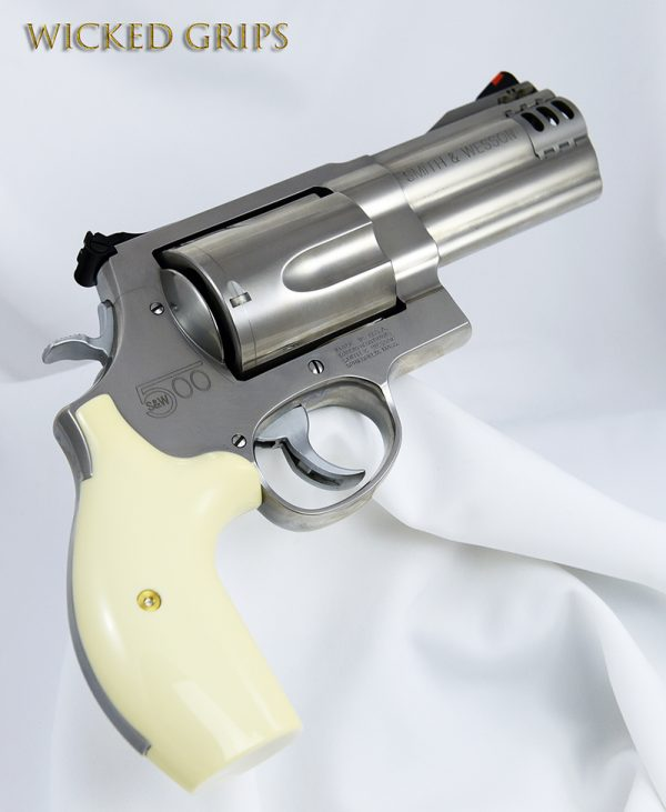 S&W K L AND X FRAME REVOLVER GRIPS SYNTHETIC IVORY
