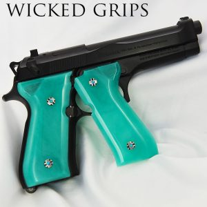 BERETTA 92FS GRIPS ARTIST SERIES REPLICATED JADE